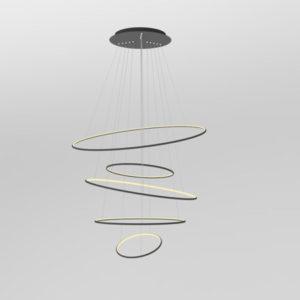 Lampa wisząca Ledowe okręgi No.5 czarna 3k dimm Altavola Design