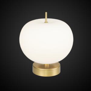 ALTAVOLA DESIGN: Ekskluzywna lampa LED stołowa złoto biała – APPLE T