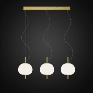 ALTAVOLA DESIGN: Ekskluzywna lampa LED wisząca złoto biała – APPLE 3