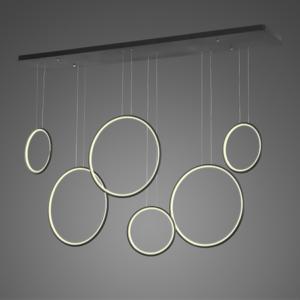 Altavola Design: Lampa wisząca Ledowe Okręgi no. 8 czarna 180 cm in 3k
