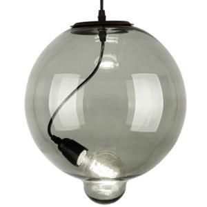 Lampa szklana Modern Glass Bubble - dymna