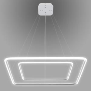 Lampa wisząca Ledowe Kwadraty No. 2 biała out 3k Altavola Design