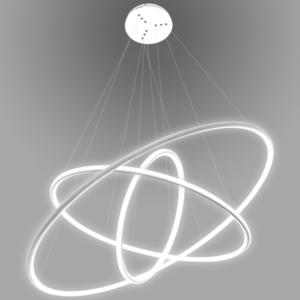 Lampa wisząca Ledowe Okręgi No.3 Φ80 cm in 3k biała ściemnialna Altavola Design