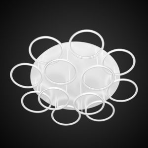 Altavola Design: Plafon Ledowe Okręgi 12 biały in 3k