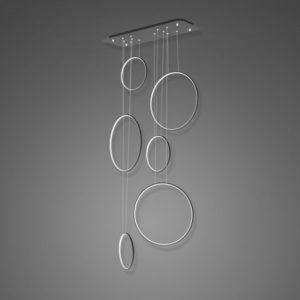 Altavola Design: Lampa wisząca Lampa Ledowe Okręgi No. 8 czarny 90 cm in 3k