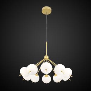 Ekskluzywna lampa LED wisząca złoto biała Apple C Altavola Design