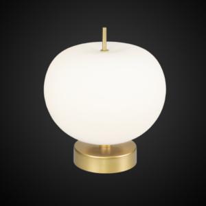 Ekskluzywna lampa LED stołowa złoto biała Apple T: Altavola Design