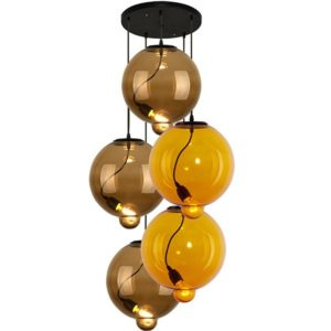Modern Glass Bubble CO5 Mix 3 – żyrandol Altavola Design