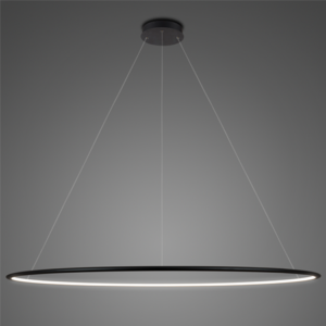 Lampa wisząca Ledowe Okręgi No.1 Φ200 cm in 4k czarna Altavola Design
