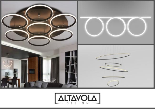 Indywidualne projekty lamp. Ledowe Okręgi i Kwadraty